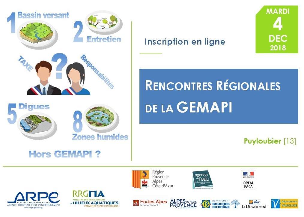 4/12/2018 : Rencontres régionales de la Gemapi – RRGMA Provence-Alpes-Côte d'Azur – Puyloubier (13)