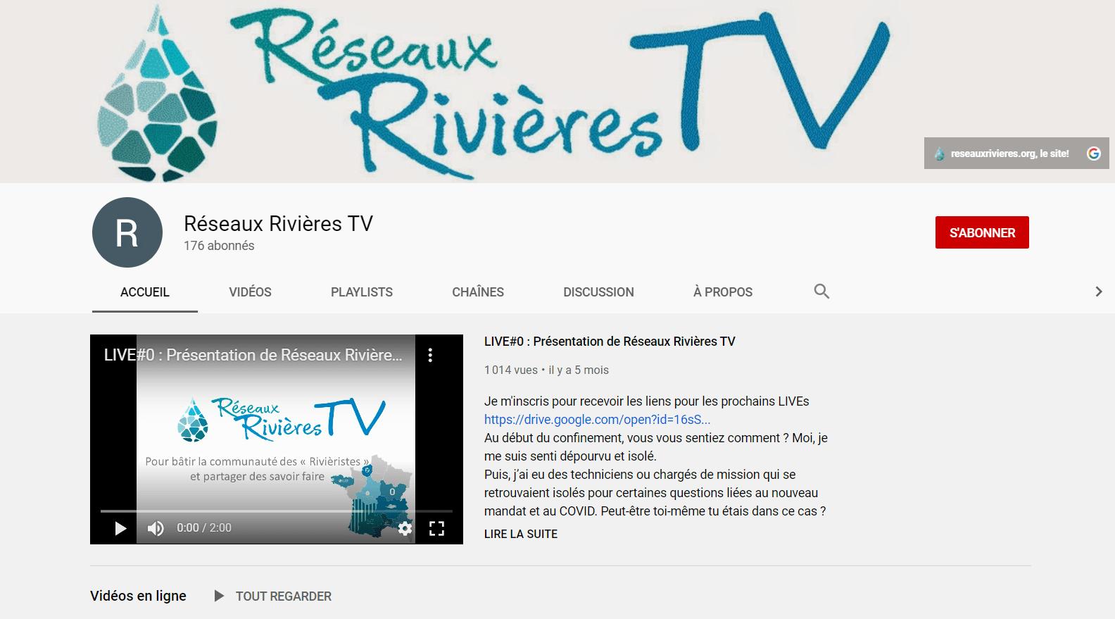 RESEAUX RIVIERES TV – la WEBTV technique des « rivièristes »